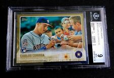 2015 TOPPS UPDATE CARLOS CORREA GOLD SP ROOKIE CARD! GRADED BGS 9 MINT US 251