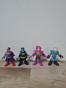 Imaginext DC Character Figure x4 Superman Batman Lex Luther Galactic Heroes