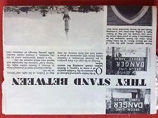 m2r ephemera  1965 picture british army article cyprus nicosia green line