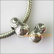 4 Russian Dolls Tibetan Silver Spacer Beads fit European Charm Bracelet 8.5x13mm