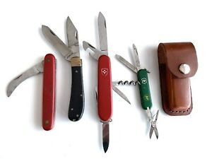 Victorinox Elinox BP Switzerland Swiss Army Knife Collection + Leather Holster