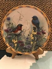 Lenox Fine Ivory China Collectors Plate Summer Interlude Natures Collage Birds