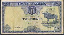 ZAMBIA BANKNOTE 5 P3 1964 VF