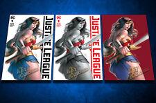 DC COMICS Justice League 1! Warren Louw KRS Comics Variant Set!