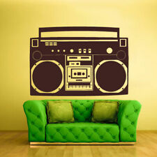 Wall Decal Vinyl Sticker Decals Boombox Stereo Tape Audio Retro (Z1311)