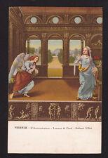 c1910  Baccani art L'Annunziazione religion by artist Lorenzo di Credi postcard