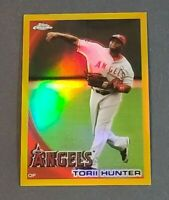 Torii Hunter Los Angeles Angels 2010 Topps Chrome Gold Refractor #115 32/50