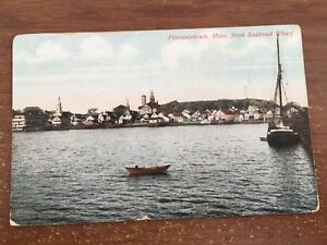 Postcard MA Provincetown From Railroad Wharf