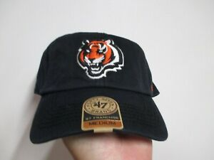 CINCINNATI BENGALS 47 BRAND SLOUCH FITTED HAT (MED) NWT $30 BLACK COOL LOGO!