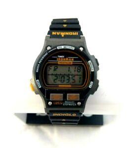 New Vintage Timex Ironman Triathlon Women Wrist Watch Indiglo 90's Digital 8 Lap