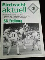 Programm 3.12.1988 Eintracht Braunschweig SC Freiburg Stadionheft Fussball BTSV