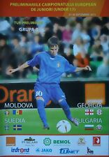 Programm LS 21.-26.9.2011 U17 Moldova - Georgia / Sweden - Bulgaria