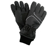 Girls Winter Children Ski Gloves Black Size 11-16 NEW Kids Warm