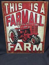 This is a Farmall M Farm TIN SIGN metal  tractor garage barn Shop wall decor