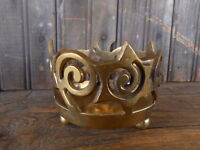 Brass Made in India Candle Holder Stars Decor Pre Owned