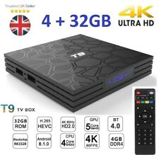 2018 T9 4GB+32GB Android 8.1 TV Box Reproductor de medios HD 4K Smart Wi-fi Bluetooth Nuevo