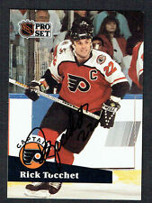 Rick Tocchet #580 signed autograph auto 1991-92 Pro Set Hockey Trading Card