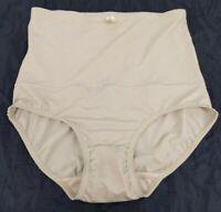 Vintage Beige High Waist Stretchy Nylon Spandex Shapewear Panty Panties XL