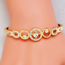 Rose Gold Diamante Bangle Bracelet Shiny Crystals - 2.5in/6.35cm + Gift Bag