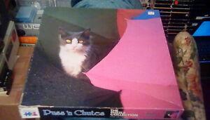 "1980s Warren Jigsaw Puzzle - Puss 'n Chutes 20.5"" x 20.5"" (550 pc) No. 9701 cats"
