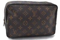 Auth Louis Vuitton Monogram Trousse Toilette 23 Clutch Hand Bag M47524 LV B2055