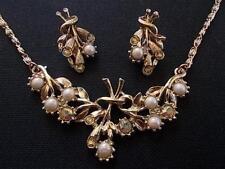 Pearl Glass Earring Vintage Costume Jewellery (1960s)