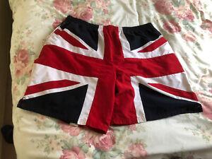 XL UNWORN UNION JACK ENGLAND EURO 2021 SWIM BEACH SHORTS