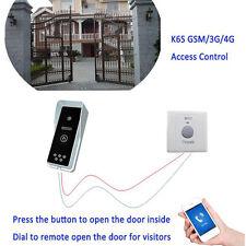 GSM 4G Wireless Audio Intercom Gate Door Opener Security Free Call Wireless Safe