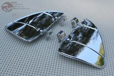 Outside Air Flow Wind Breeze Deflectors Vent Window Accessory Vintage Car Chrome