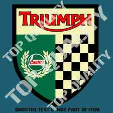 VINTAGE CASTROL TRIUMPH DECAL STICKER MOTORBIKE SUIT SCOOTER DECALS STICKERS