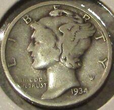 1934 Mercury 90% Silver 10c Dime - #2
