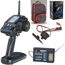 Futaba 4PLS 4CH 2.4GHz T-FHSS Telemetry Radio w Transmitter Case + R304SB Rec...