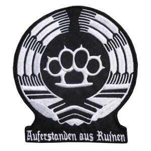 Aufnäher Aufbügler Auferstanden aus Ruinen Ehre Ostdeutschland DDR schlagring