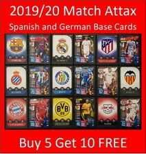 2019/20 Match Attax UEFA Soccer Cards - Spanish and German Teams - Buy 5 Get 10
