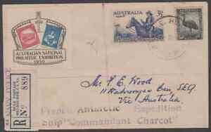 "HEARD ISLAND 1950 Cover with rare ""NAVY OFFICE"" cachet"