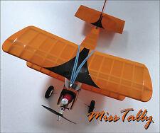 Modelo de avión biplano Nuevo Kit de construcción balsa Traditional RC o kit de vuelo libre