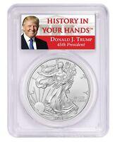 2019 1oz Silver Eagle PCGS MS70 Donald Trump Label