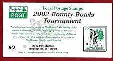 2002 Norfolk Island Sg Sb 17 muh booklet - Bounty Bowls Tournament Muh