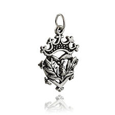 Scottish Luckenbooth Pendant - 925 Sterling Silver Charm Heart Crown Thistle NEW