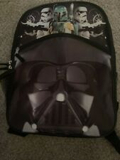 Star Wars Darth Vader Stormtroopers Boba Fett Backpack Brand New With Tags