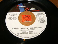 DIANA ROSS - TOUCH ME IN THE MORNING - I WON'T LAST A  / LISTEN - TAMLA MOTOWN