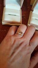 Morganite & Diamond Engagement Ring & Band Set Size 6 BRAND NEW