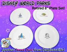 Disney Theme Parks Retired Dinner Plate Set of 4 - Magic Kingdom Epcot MGM NEW!
