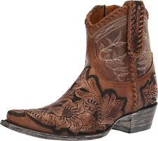 Old Gringo Polo Chale Queenswood Ankle Boots Brown Floral Size 7