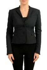 C'N'C Costume National Black Two Button Women's Blazer US S IT 40