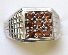 Men's Mocha Scapolite Ring  / sz 12 / 925 Sterling Silver, 0.9cts, 9.1 grams