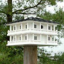 New Clubhouse Bird House Home Bazaar Wood White Bird Lovers