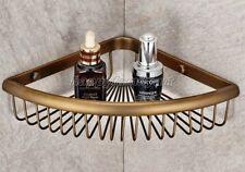 Antique Brass Wall Mounted Corner Shower Basket Bath storage caddy shelf yba510