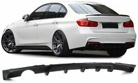 SINGLE TIP REAR BUMPER DIFFUSER BMW F30 3 SERIES 10/2011 ON M TEC SPORT BUMPER