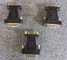 JOBLOT 3 X visiontek IM1YB4116 DVI a VGA Macho a Hembra Cable Adaptador Negro